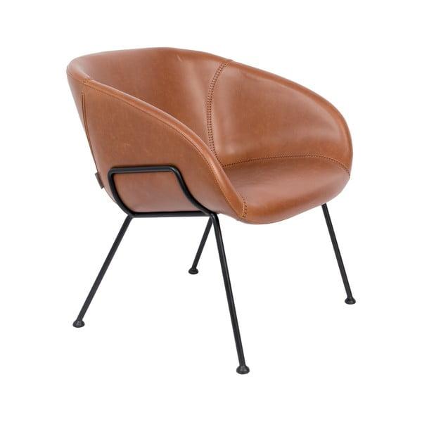 Feston barna műbőr szék - Zuiver