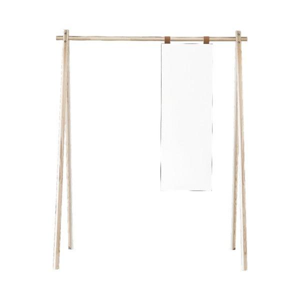 Oglindă suspendată cu cuier din lemn de pin Karup Design Hongi Natural