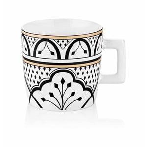 Černobílý hrnek z kostního porcelánu The Mia Maroc Tanger, 480ml