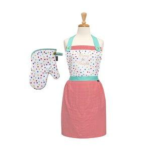 Sada kuchyňské zástěry a rukavice Merry and Bright