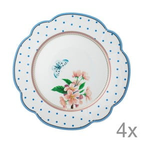 Porcelánový talíř  Dottie od Lisbeth Dahl, 24 cm, 4 ks