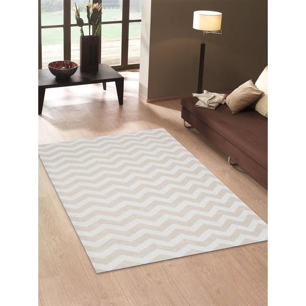 Vysoce odolný kuchyňský koberec Webtappeti Optical Beige, 130x190 cm
