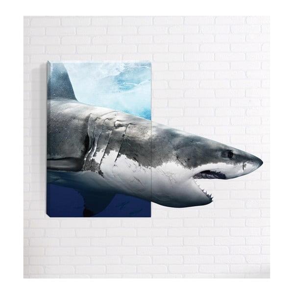 Shark 3D fali kép, 40 x 60 cm - Mosticx