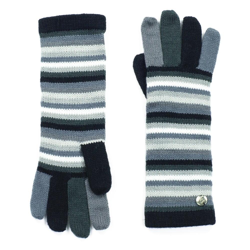c805a41ff18 Šedě pruhované dámské rukavice Art of Polo Greta