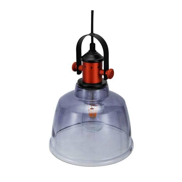 Šedá skleněná stropní lampa Garageeight Etel