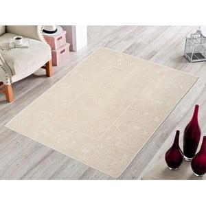 Krémový odolný koberec Vitaus Orchidea, 80x200cm