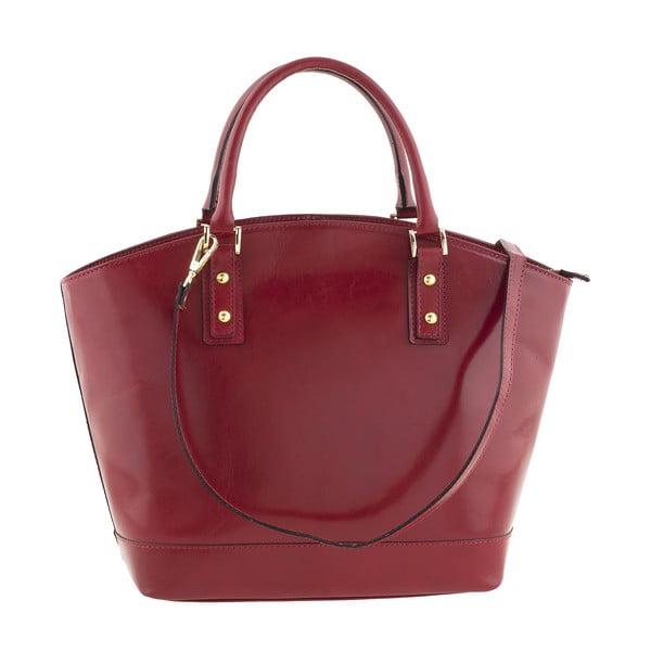 Kožená kabelka Pure Italia, červená