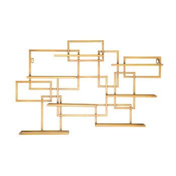 Suport de perete auriu, pentru sticle Mauro Ferretti Diodoro, 80 x 50 cm imagine
