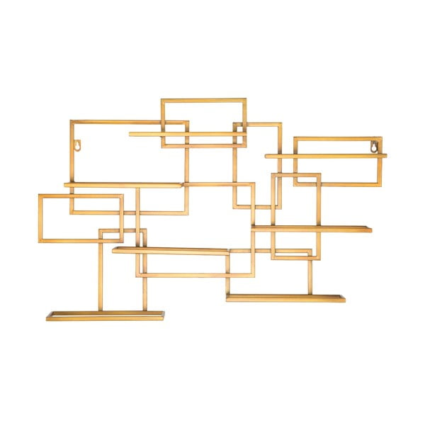 Suport de perete auriu, pentru sticle Mauro Ferretti Diodoro, 80 x 50 cm