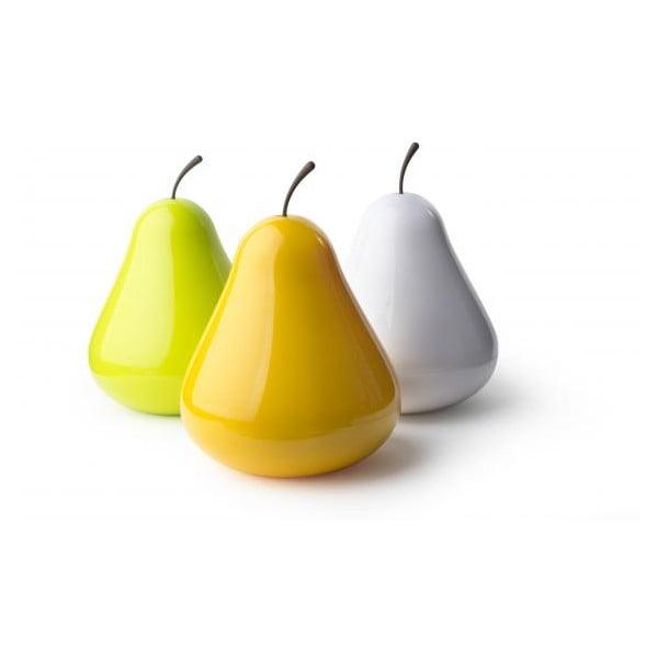Multifunkční mísa s poklopem QUALY Pear Pod, bílá