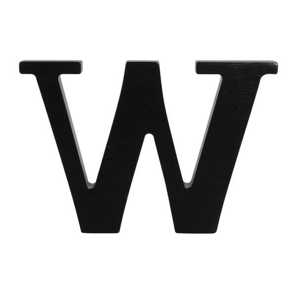 Černé dřevěné písmeno Typoland W