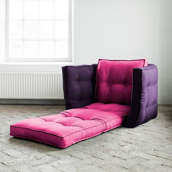 Fotoliu extensibil Karup Dice Pink/Purple