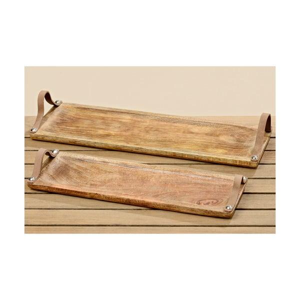 Sada 2 dřevěných podnosů Malus