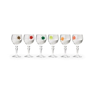 Sada 6 rozlišovačů skleniček Qualy&CO Leaf My Glass