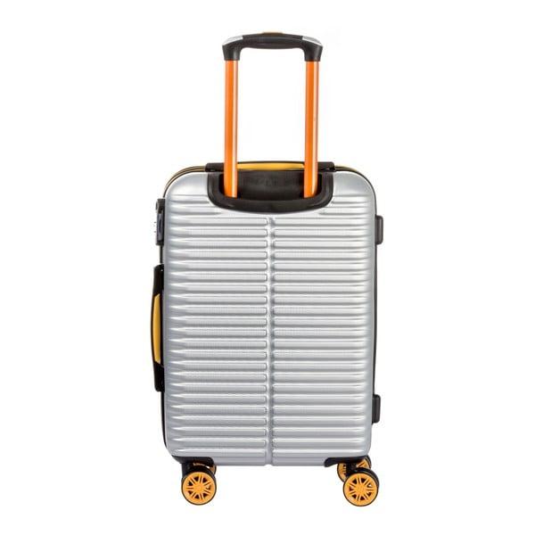 Sada 3 světle šedých kufrů Travel World Amazonia