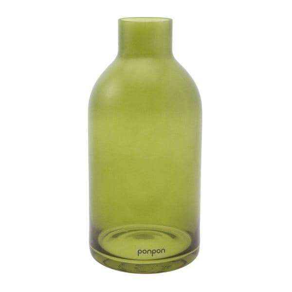 Váza/svícen Bottle 25,5 cm, zelená