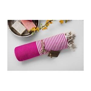 Hamam osuška Jacquard Loincloth Pink, 100x180 cm