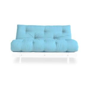 Canapea extensibilă Karup Design Roots White/Light Blue