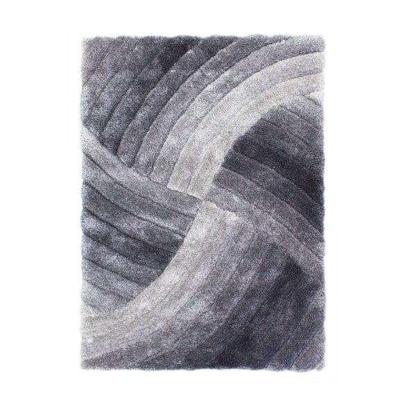 Sivý koberec Flair Rugs Furrow Grey, 120×170 cm