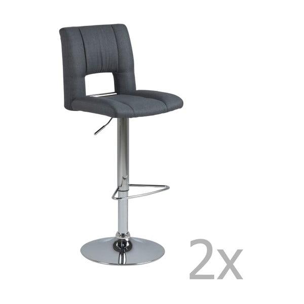Sada 2 tmavě šedých barových židlí Actona Wilma Barstool