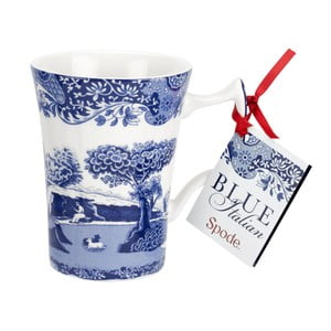 Sada 4 bílomodrých porcelánových hrnků Spode Blue Italian, 280 ml