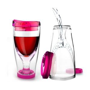 Růžová termolahev Asobu Ice Vino 2GO, 300 ml