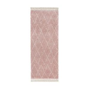 Růžový běhoun Mint Rugs Galluya, 80x200cm