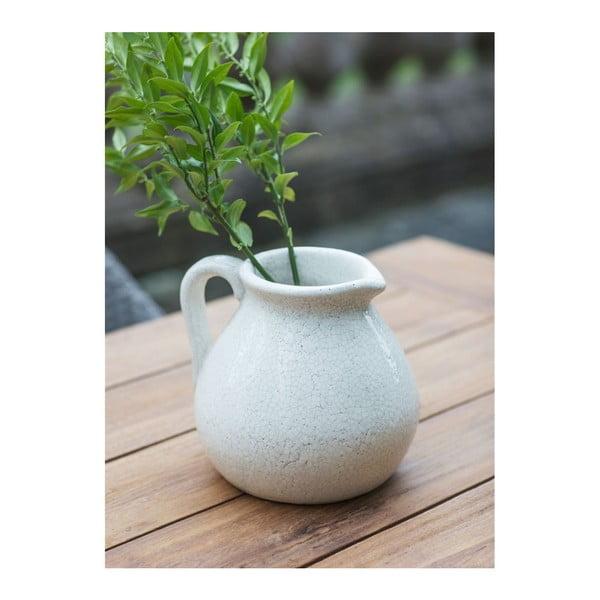 Bílá váza ve tvaru džbánu Garden Trading Ravello, 3,8l