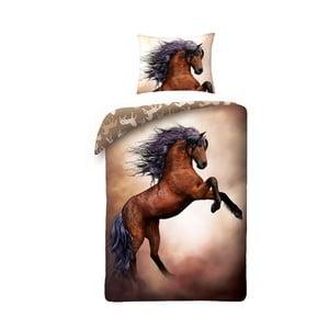 Dětské bavlněné povlečení Halantex Horses, 140 x 200 cm