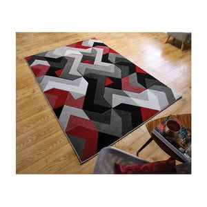 Koberec Flair Rugs Aurora Grey Red, 160 x 230 cm