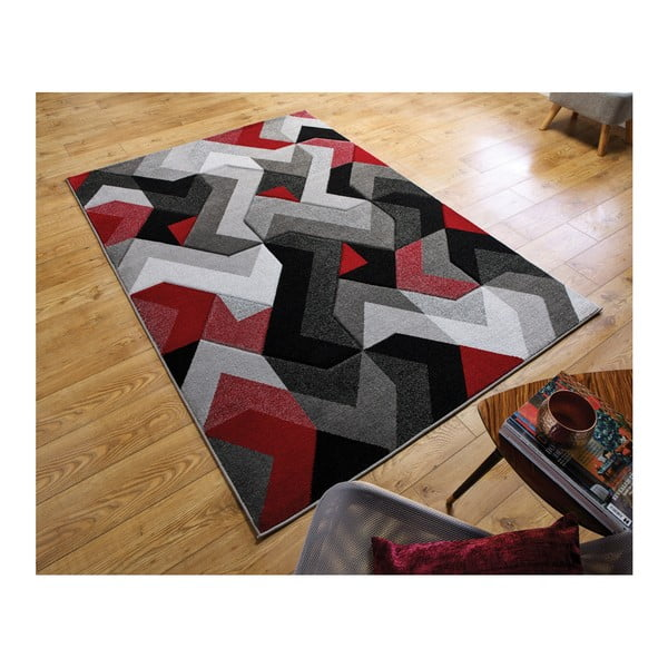 f81a605a647933 Dywan Flair Rugs Aurora Grey Red, 120x170 cm