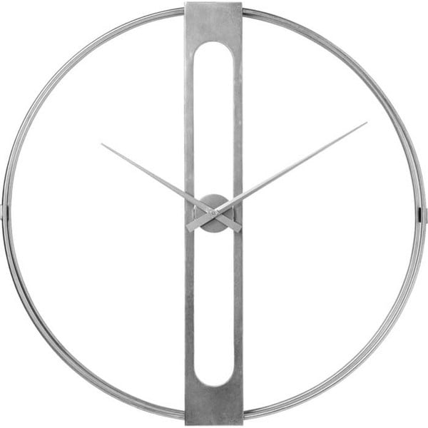 Nástěnné hodiny ve stříbrné barvě Kare Design Clip, ø107cm