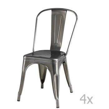 Set 4 scaune cu spătar Knuds Korona, gri