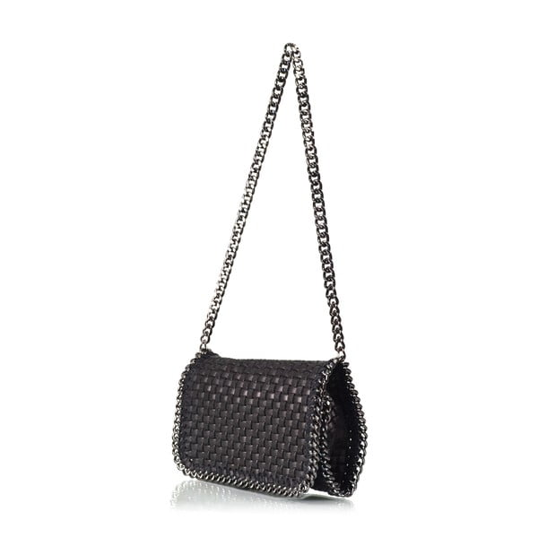Kožená kabelka Deborah, černá
