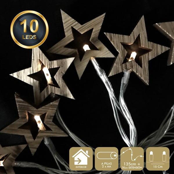 Ghirlandă luminoasă cu 10 becuri LED Unimasa Star, galben