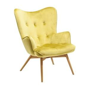 Žluté křeslo Kare Design Vicky