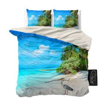 Lenjerie De Pat Din Micropercal Sleeptime Beach Heron, 200 X 220 Cm