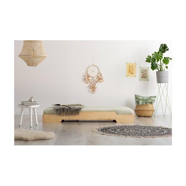 Detská posteľ z borovicového dreva Adeko BOX 8, 90×190 cm