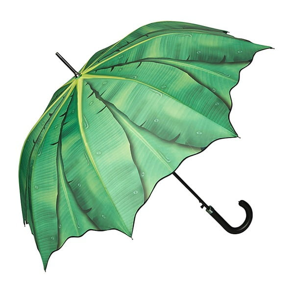 Zelený holový deštník Von Lilienfeld Banana Leafes, ø 100 cm