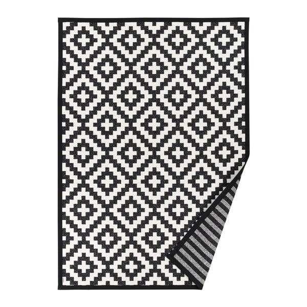 Covor reversibil Narma Viki Black, 80 x 250 cm, alb - negru