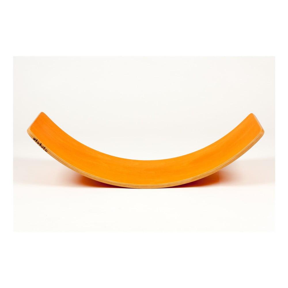 Oranžové bukové houpací prkno Utukutu, délka82cm