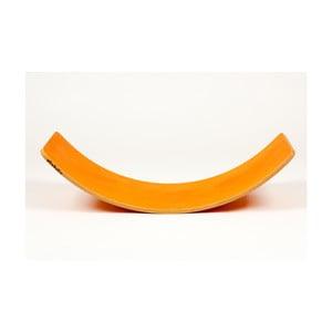 Velké oranžové bukové houpací prkno Utukutu Woudie, délka117cm