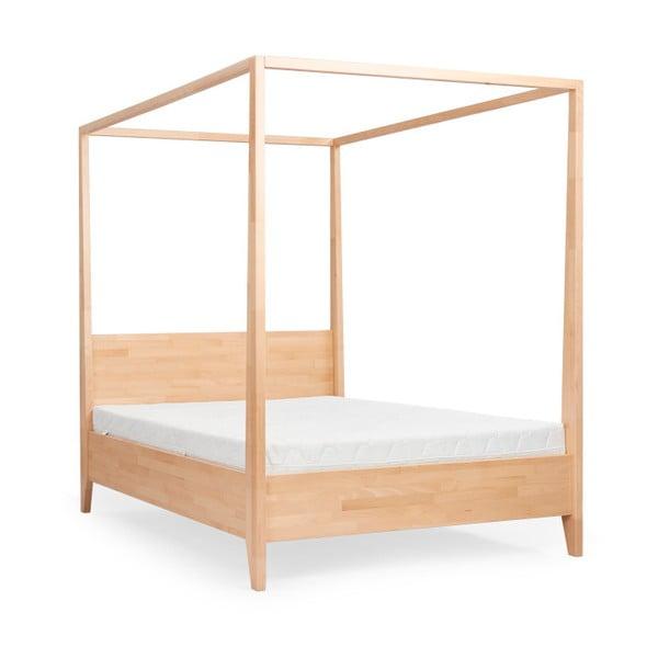 Canopy kétszemélyes tömör borovi fenyő ágy, 200 x 200 cm - SKANDICA
