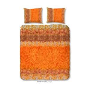 Povlečení na dvoulůžko z bavlněného saténu Muller Textiels Sangria, 200 x 200 cm
