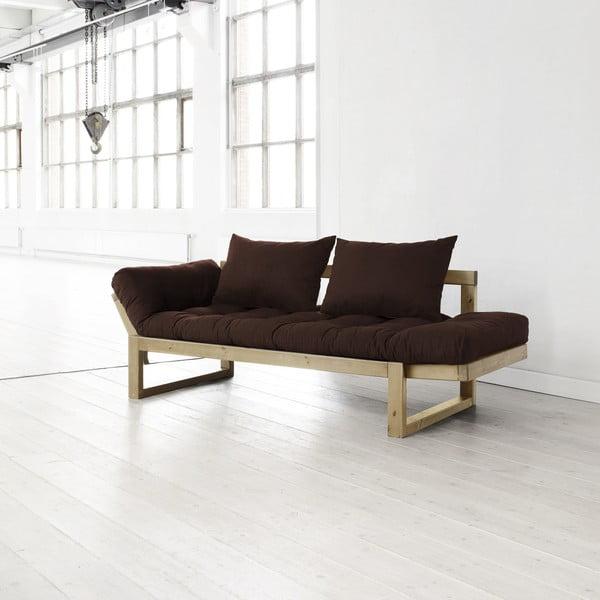 Sofa Edge choco/natural