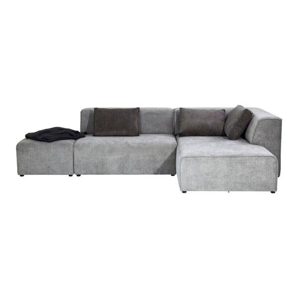 Infinity sötétszürke kanapé, lábtartóval - Kare Design