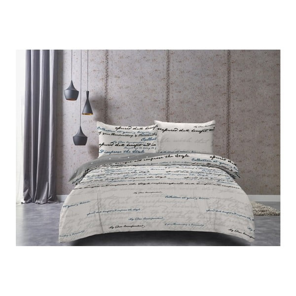 Lenjerie de pat din bumbac satinat DecoKing Clarity, 140 x 200 cm