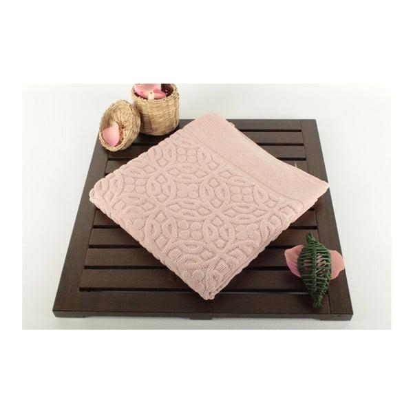 Světle růžová koupelnová předložka Bath, 50x70cm