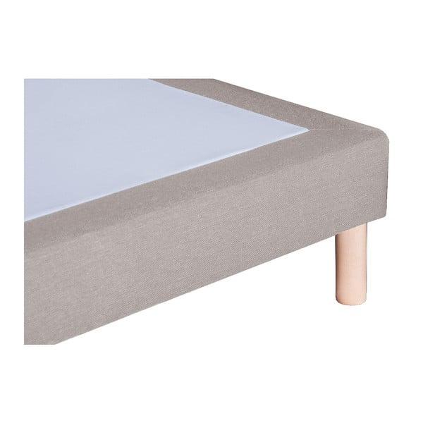 Světle šedá postel s matrací Stella Cadente Saturne Forme, 140x200 cm