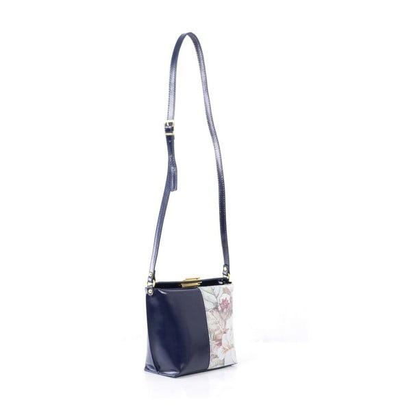 Kožená kabelka Tracy, tm. modrá